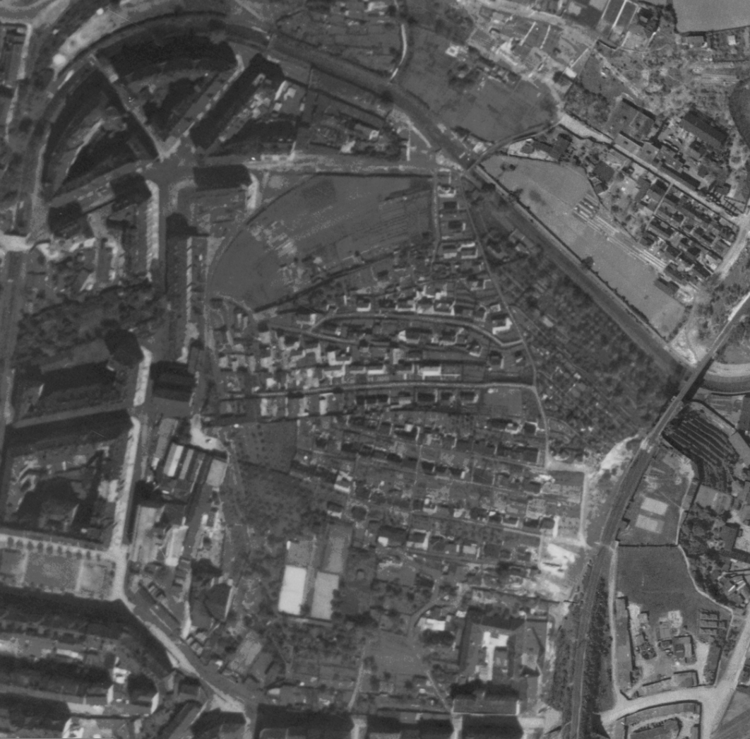 nouzova-kolonie-na-hajku-letecky-snimek-1945