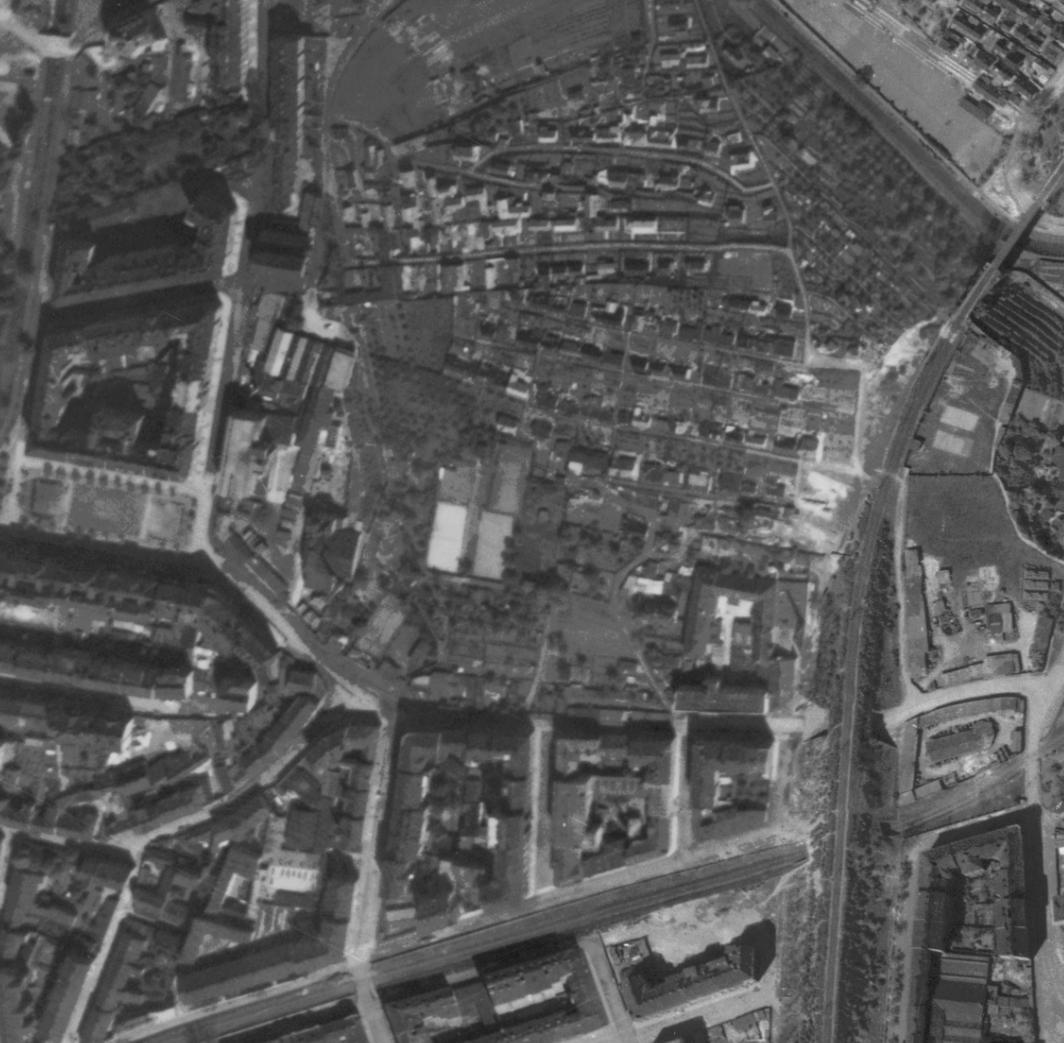 nouzova-kolonie-na-kotlasce-letecky-snimek-1945