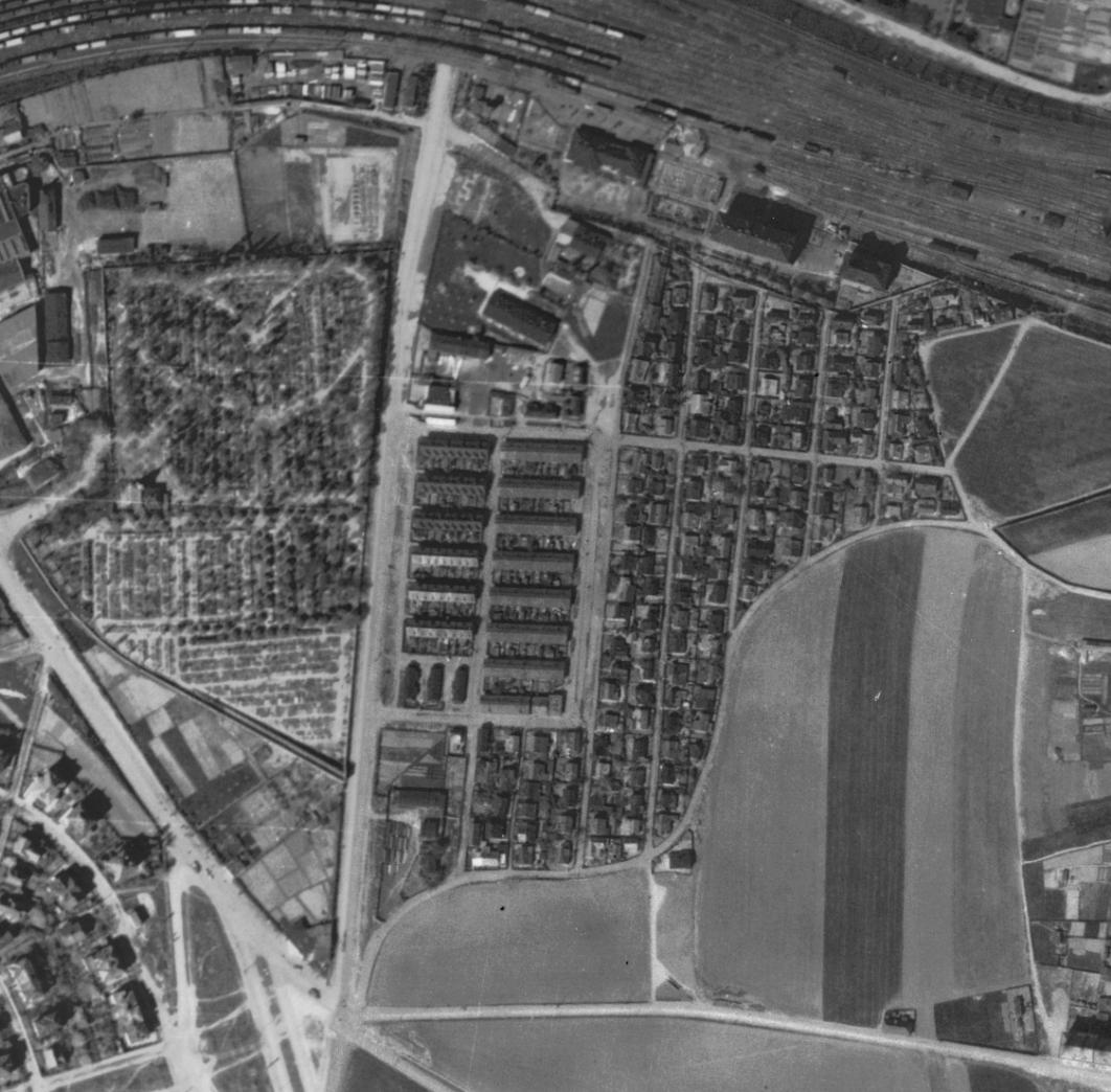 nouzova-kolonie-pod-bohdalcem-letecky-snimek-1945