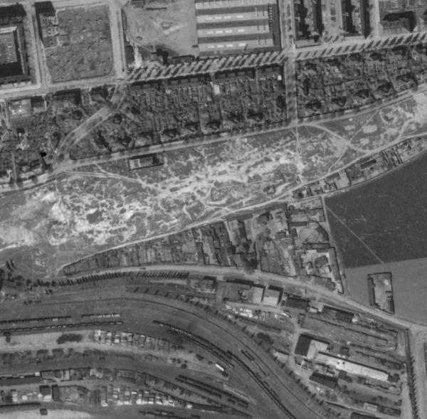 nouzova-kolonie-zidovske-pece-m-letecky-snimek-1945