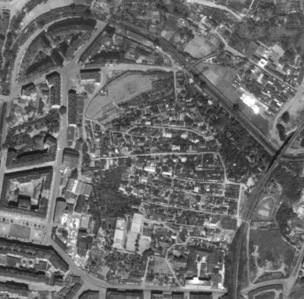 nouzova-kolonie-na-hajku-letecky-snimek-1953