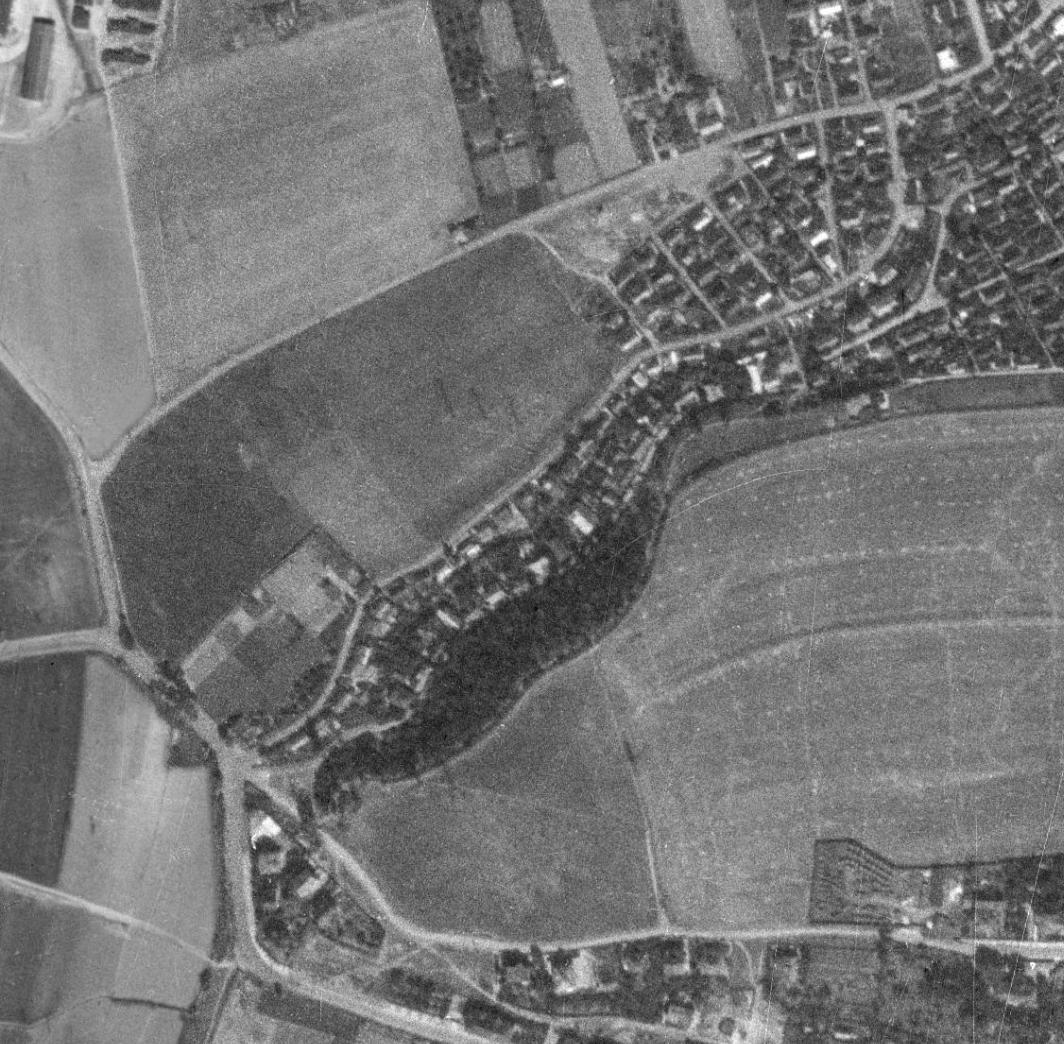 nouzova-kolonie-pod-lesikem-letecky-snimek-1953