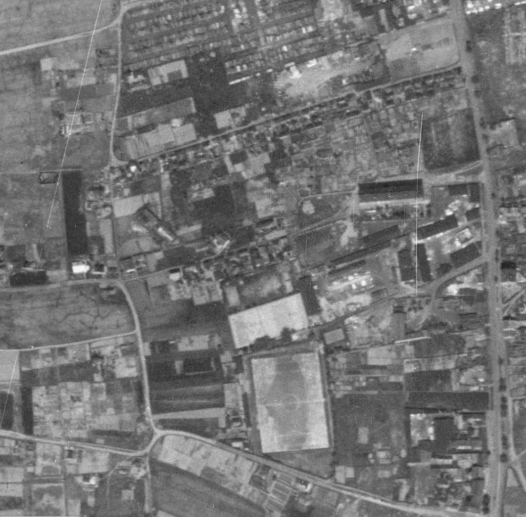 nouzova-kolonie-u-druzstva-klid-letecky-snimek-1953