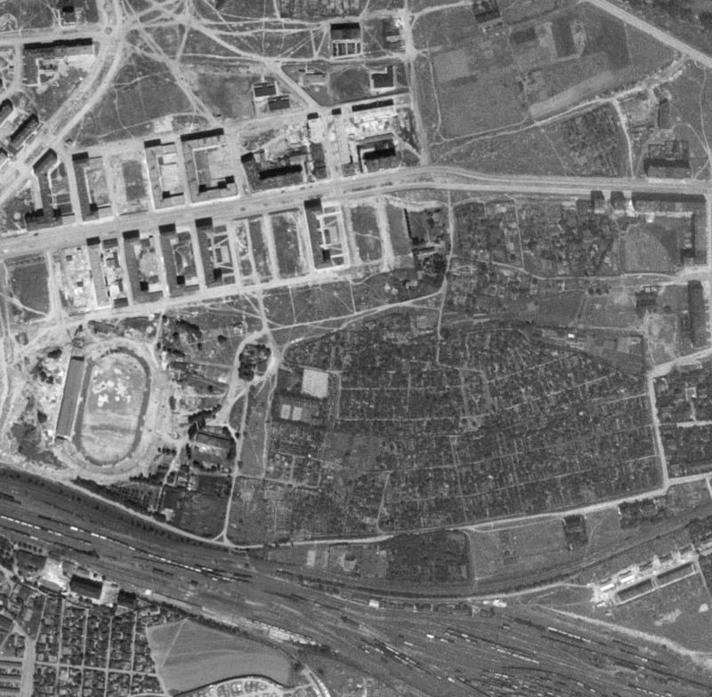 nouzova-kolonie-zahradky-letecky-snimek-1953