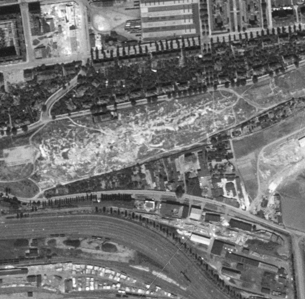 nouzova-kolonie-zidovske-pece-m-letecky-snimek-1953