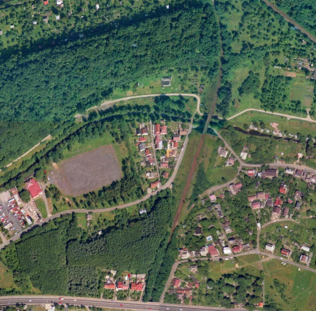 nouzova-kolonie-pred-mostem-letecky-snimek-1996