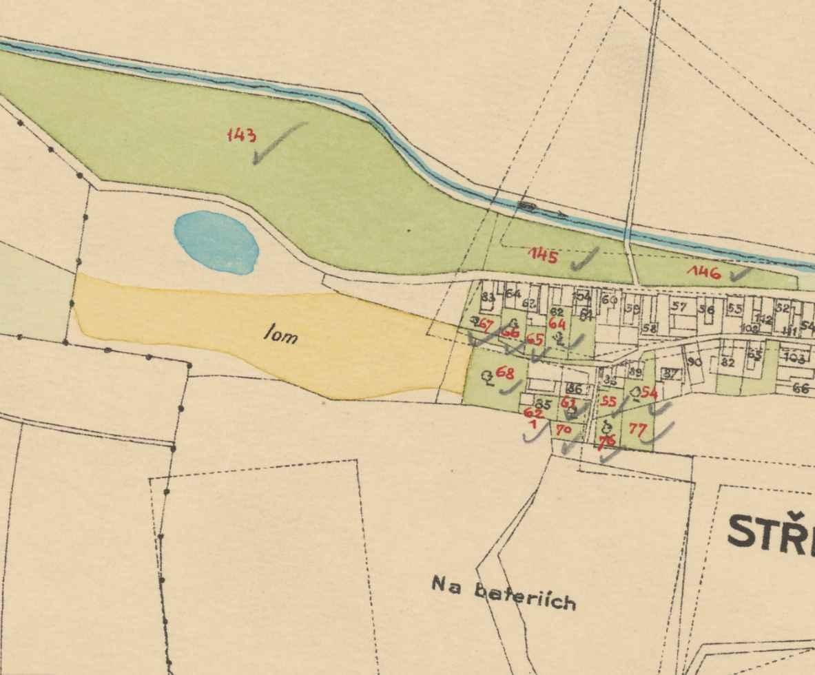 nouzova-kolonie-piskovna-stresovice-mapa-1909