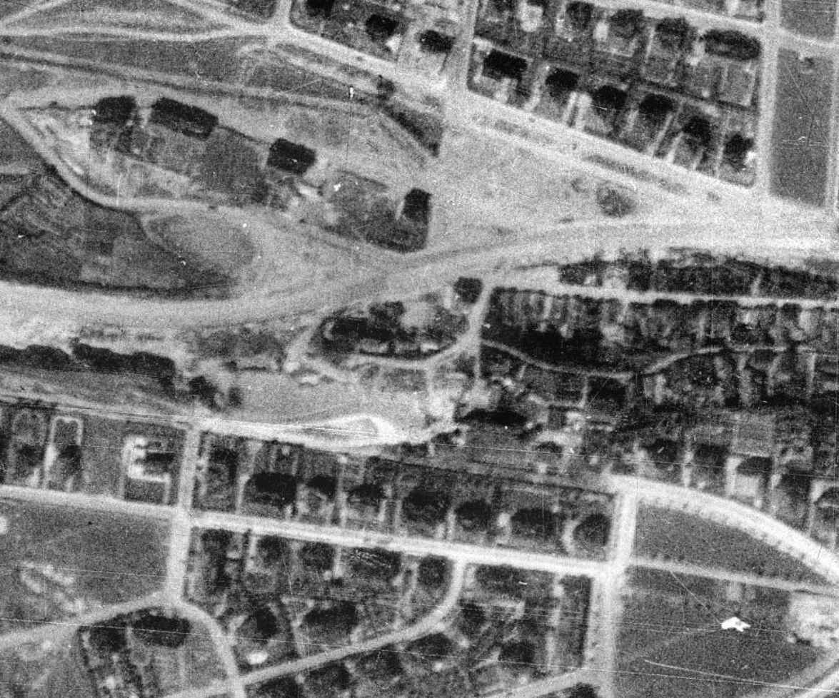 nouzova-kolonie-piskovna-stresovice-letecky-snimek-1938