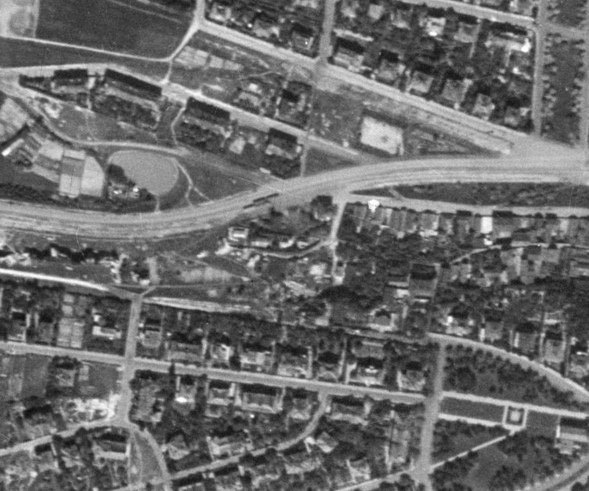 nouzova-kolonie-piskovna-stresovice-letecky-snimek-1953