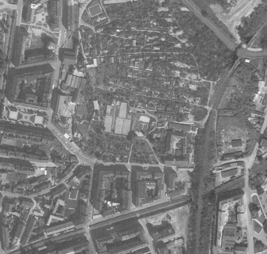 nouzova-kolonie-na-kotlasce-letecky-snimek-1966