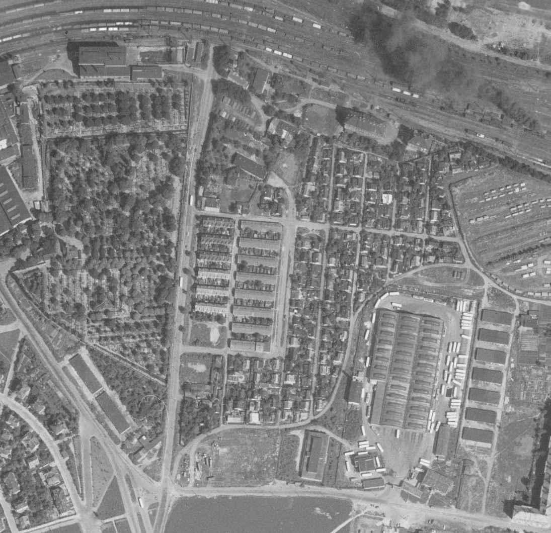 nouzova-kolonie-pod-bohdalcem-letecky-snimek-1966