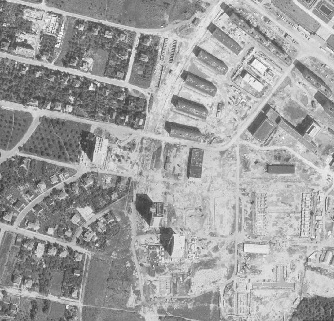 nouzova-kolonie-u-fortovny-letecky-snimek-1966