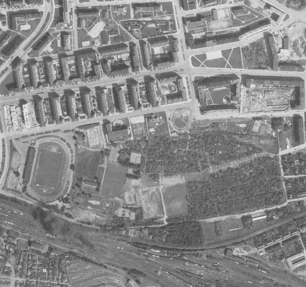 nouzova-kolonie-zahradky-letecky-snimek-1966