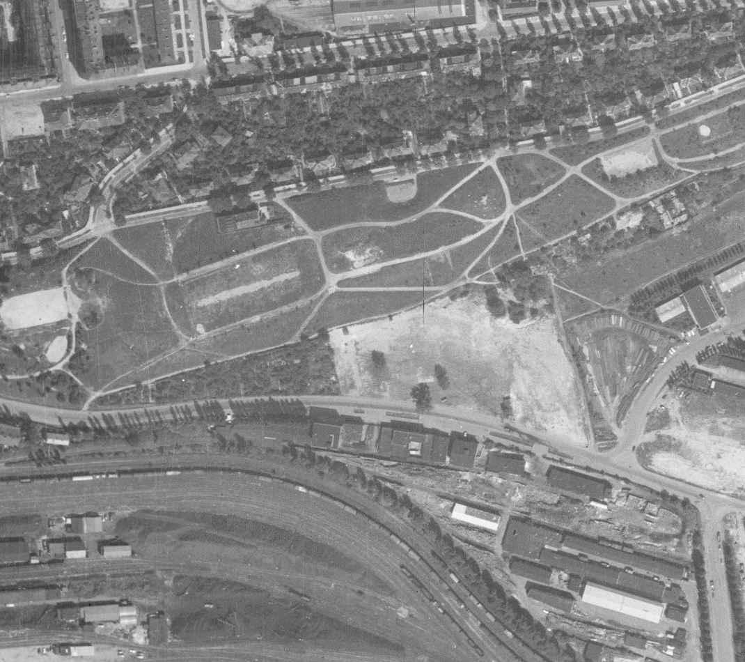 nouzova-kolonie-zidovske-pece-m-letecky-snimek-1966