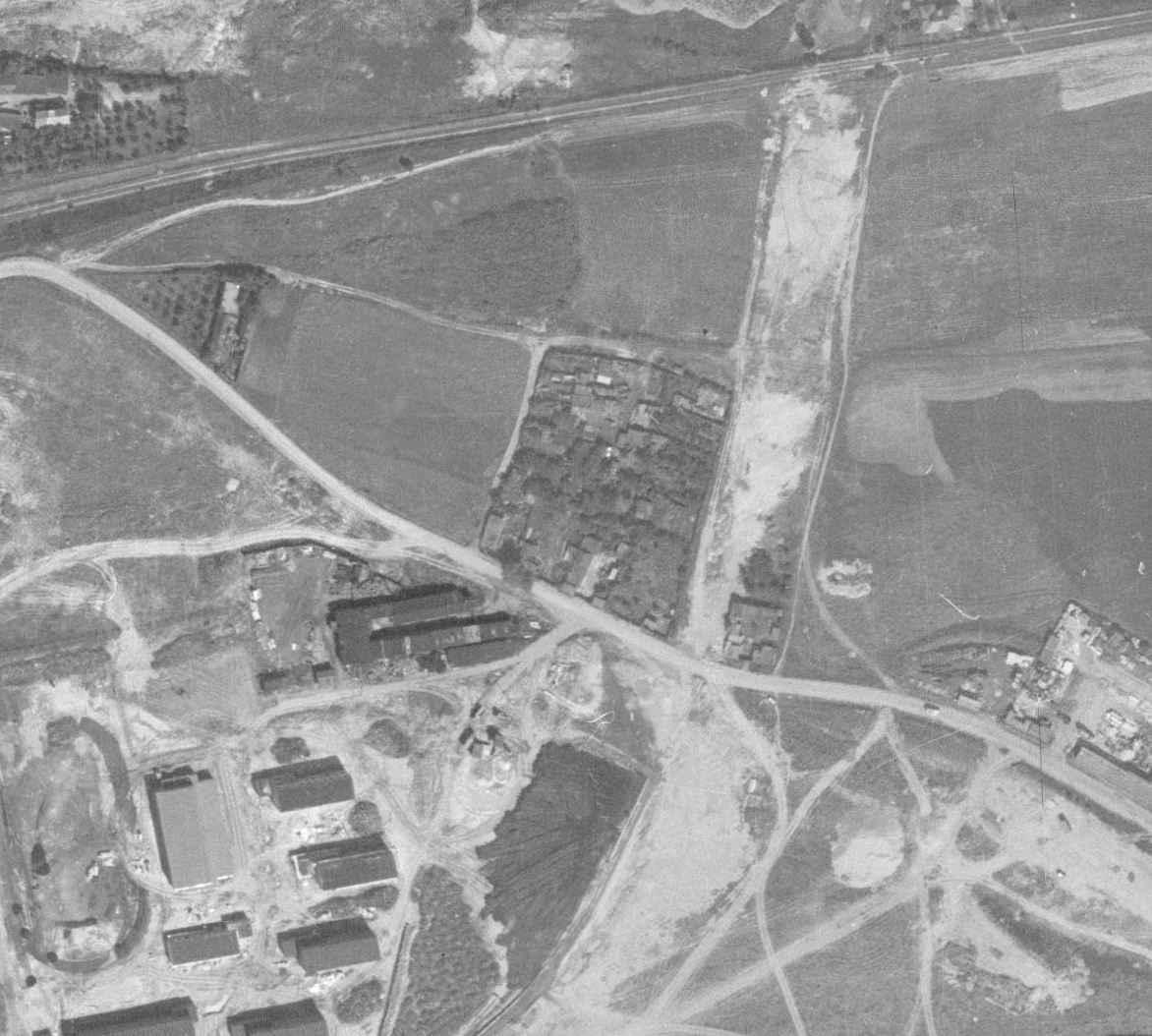 nouzova-kolonie-k-vackovu-letecky-snimek-1966
